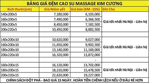 Đệm cao su Massage Kim Cương