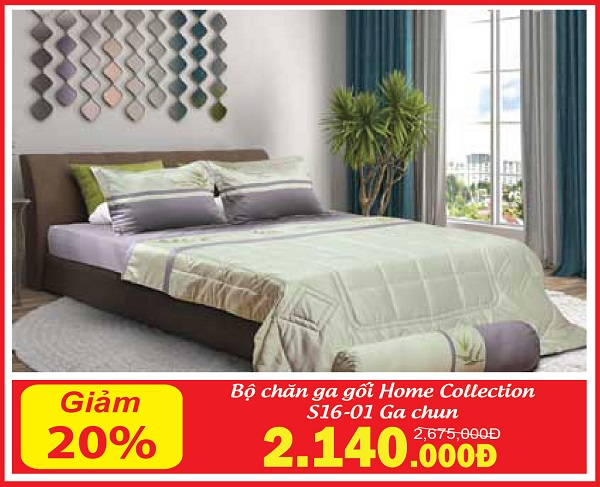 Bộ chăn ga gối Sông Hồng Home Collection