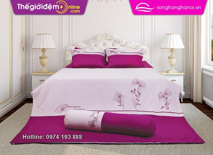 Chăn ga gôi sông hồng Home Collection H15 029 ga rèm